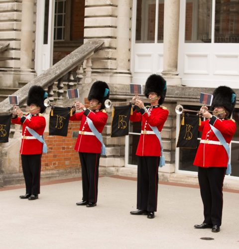 Fanfare Trumpeters in uniform
