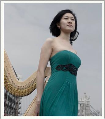 Chinese Musicians & Harpist